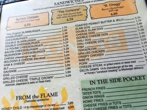 Fayetteville - Honeys menu