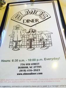 Ellmo's menu