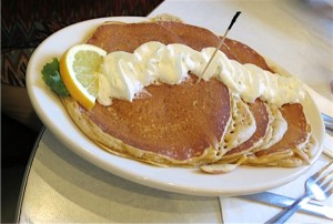sweet potato pancakes at Elmo's