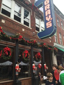 Gray's, a shop on Main St. decorated for the occasion