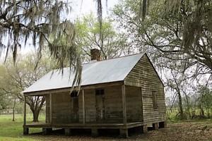 A 2-family slave cabin.