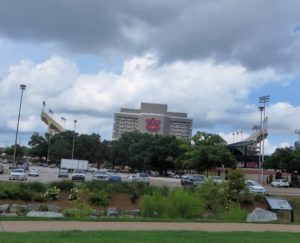 Jordan-Hare Stadium with its massive Jumbotron!