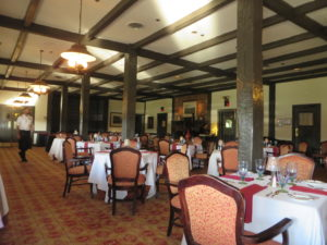 Dining room at the Gardens Restaurant.
