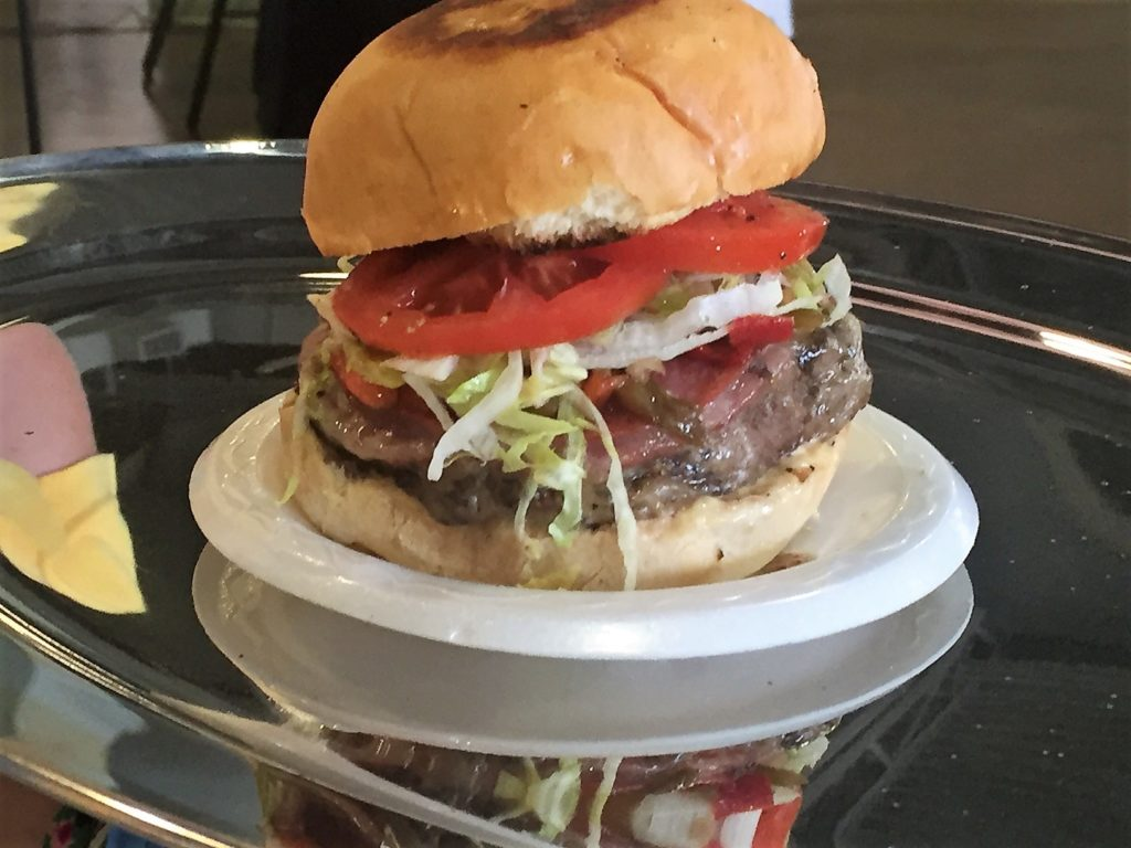 Italian burger. Look at the size of that beast!