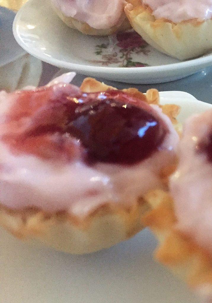 A tiny, light strawberry tart.
