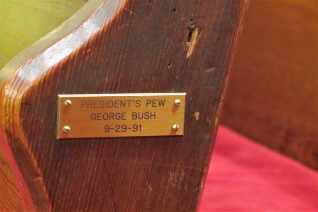 Pew in Christ Church