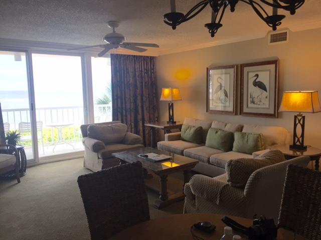 St. Simons living room in condo