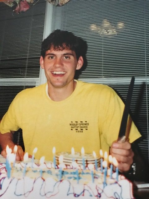 I can't quite count all the candles.  18 or 19, maybe?