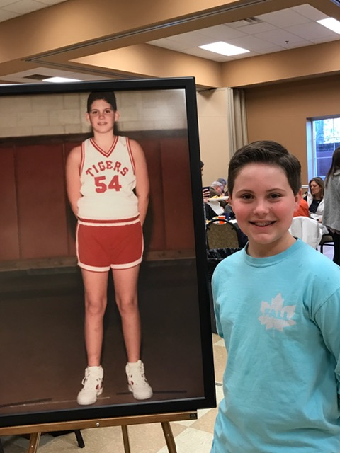 The remarkable resemblance between Matt's son Luke and Matt when he was Luke's age.