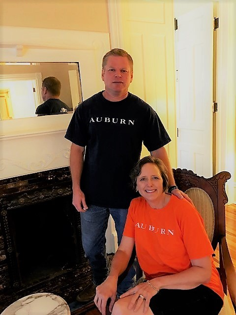 Steven and Sarah Jenkins, owners of Crenshaw Guest House in Auburn, AL
