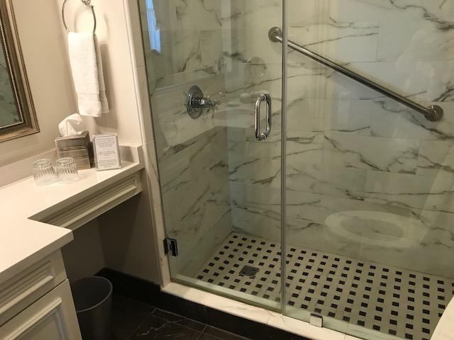 The completely modern bathroom.