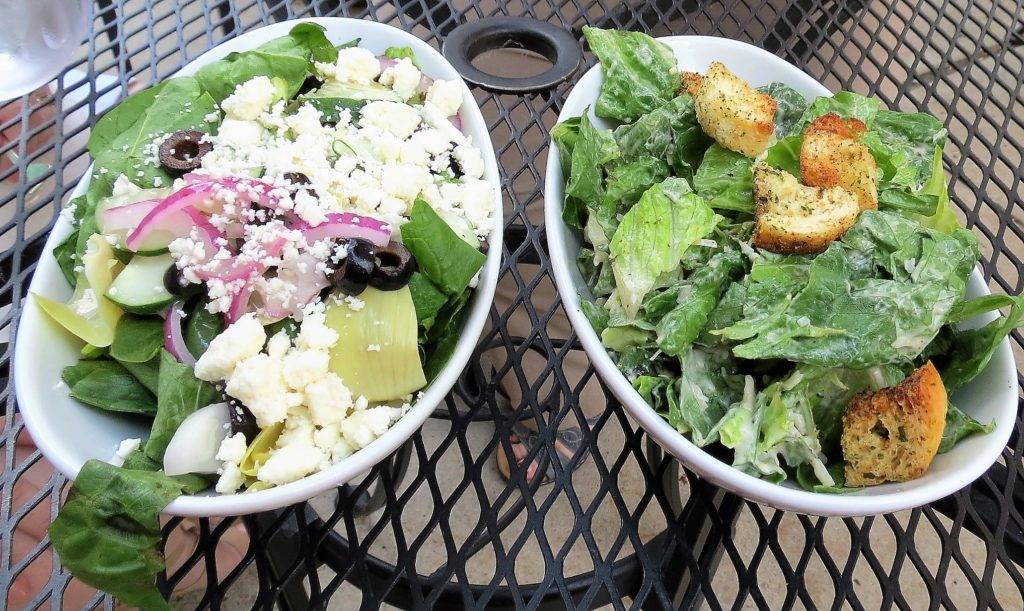 Fresh salads at Pane e Vino.